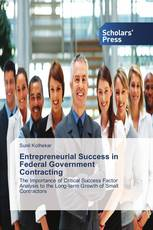 Entrepreneurial Success in Federal Government Contracting