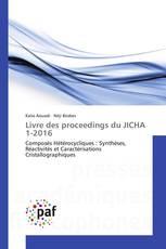 Livre des proceedings du JICHA 1-2016