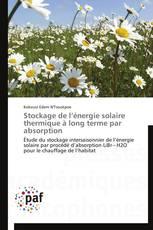 Stockage de l'énergie solaire thermique à long terme par absorption