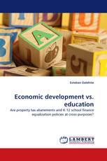 Economic development vs. education