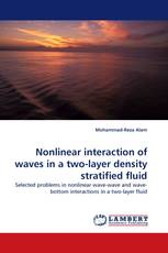 Nonlinear interaction of waves in a two-layer density stratified fluid