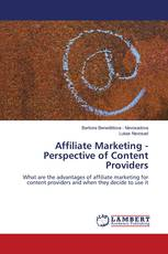 Affiliate Marketing - Perspective of Content Providers