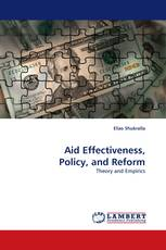Aid Effectiveness, Policy, and Reform