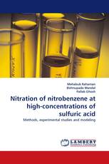 Nitration of nitrobenzene at high-concentrations of sulfuric acid