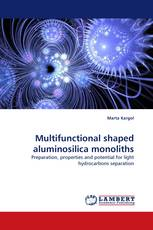Multifunctional shaped aluminosilica monoliths