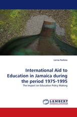 International Aid to Education in Jamaica during the period 1975-1995