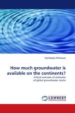 How much groundwater is available on the continents?