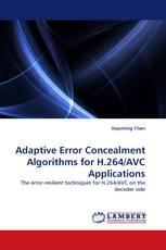 Adaptive Error Concealment Algorithms for H.264/AVC Applications