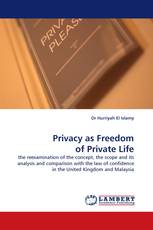 Privacy as Freedom of Private Life