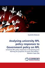 Analysing university RPL policy responses to Government policy on RPL