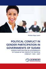 POLITICAL CONFLICT IN GENDER PARTICIPATION IN GOVERNMENTS OF SUDAN