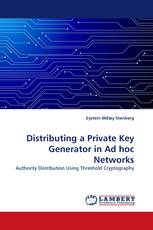 Distributing a Private Key Generator in Ad hoc Networks