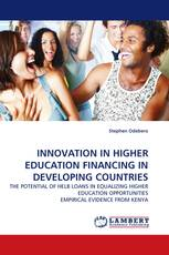 INNOVATION IN HIGHER EDUCATION FINANCING IN DEVELOPING COUNTRIES