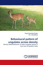 Behavioural pattern of ungulates across density