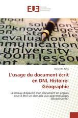 L'usage du document écrit en DNL Histoire-Géographie
