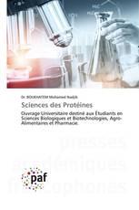 Sciences des Protéines