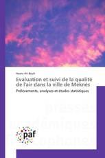 Evaluation et suivi de la qualité de l'air dans la ville de Meknès