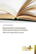 Responsable Ecclésiastique Entre Gouvernance Et Gestion