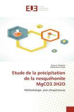 Etude de la précipitation de la nesquéhonite MgCO3.3H2O