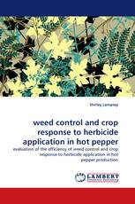 weed control and crop response to herbicide application in hot pepper