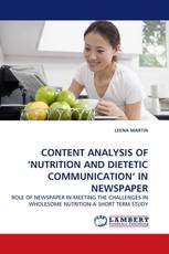 CONTENT ANALYSIS OF 'NUTRITION AND DIETETIC COMMUNICATION'' IN NEWSPAPER