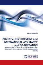 POVERTY, DEVELOPMENT and INTERNATIONAL ASSISTANCE and CO-OPERATION