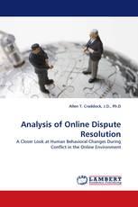 Analysis of Online Dispute Resolution