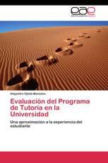 Evaluación del Programa de Tutoría en la Universidad