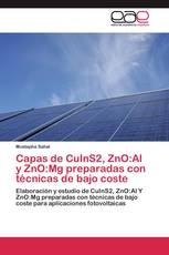 Capas de CuInS2, ZnO:Al y ZnO:Mg preparadas con técnicas de bajo coste