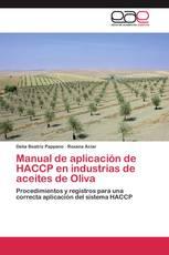 Manual de aplicación de HACCP en industrias de aceites de Oliva