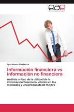 Información financiera vs información no financiera