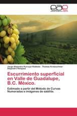 Escurrimiento superficial en Valle de Guadalupe, B.C. México.