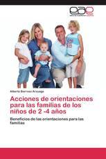 Acciones de orientaciones para las familias de los niños de 2 -4 años