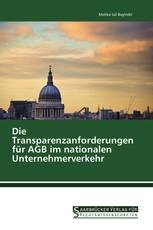 Die Transparenzanforderungen für AGB im nationalen Unternehmerverkehr