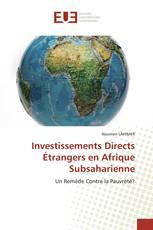 Investissements Directs Étrangers en Afrique Subsaharienne