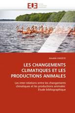 LES CHANGEMENTS CLIMATIQUES ET LES PRODUCTIONS ANIMALES