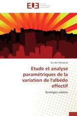 Etude et analyse paramétriques de la variation de l'albédo effectif