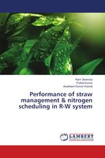 Performance of straw management & nitrogen scheduling in R-W system