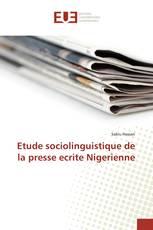 Etude sociolinguistique de la presse ecrite Nigerienne