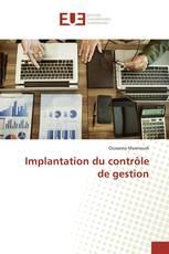 Implantation du contrôle de gestion