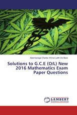 Solutions to G.C.E (O/L) New 2016 Mathematics Exam Paper Questions