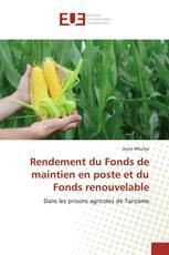 Rendement du Fonds de maintien en poste et du Fonds renouvelable