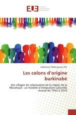 Les colons d'origine burkinabè