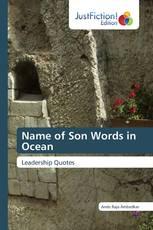 Name of Son Words in Ocean