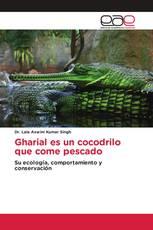 Gharial es un cocodrilo que come pescado