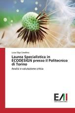 Laurea Specialistica in ECODESIGN presso il Politecnico di Torino