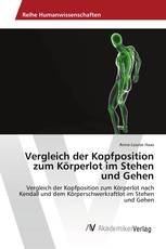 Vergleich der Kopfposition zum Körperlot im Stehen und Gehen