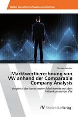Marktwertberechnung von VW anhand der Comparable Company Analysis