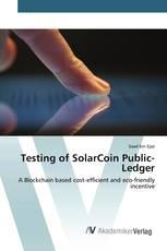 Testing of SolarCoin Public-Ledger