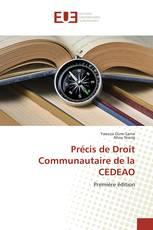 Précis de Droit Communautaire de la CEDEAO